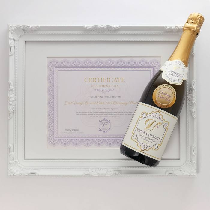 Verwood Estate Wines Sparkling Chardonnay Pino Noir 2019 First Vintage with Certificate of Authenticity