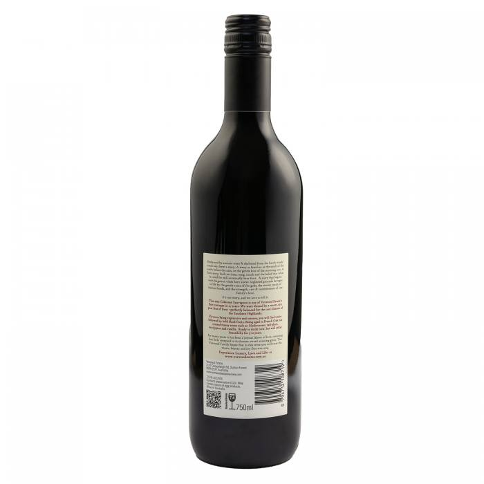 Verwood Estate 2019 Cabernet Sauvignon back of bottle