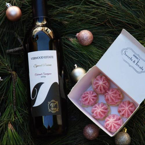 Belgian Chocolate and Wine Christmas Gift